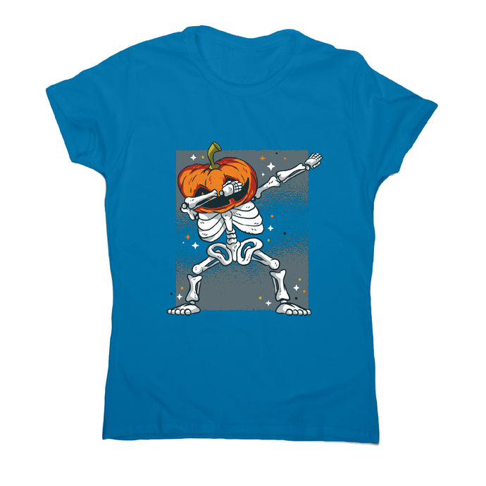Skeleton dab - funny halloween women's t-shirt - Sapphire / S - Graphic Gear