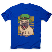 St. Patrick's day pug - men's t-shirt - Graphic Gear
