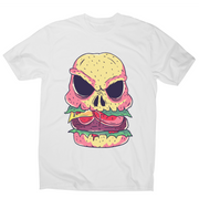 Skull burger funny foodie t-shirt men's - Graphic Gear