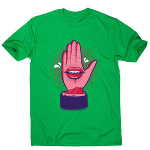 Talk hand - men's funny premium t-shirt - Green / S - Graphic Gear