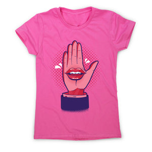 Talk hand - women's funny premium t-shirt - Graphic Gear