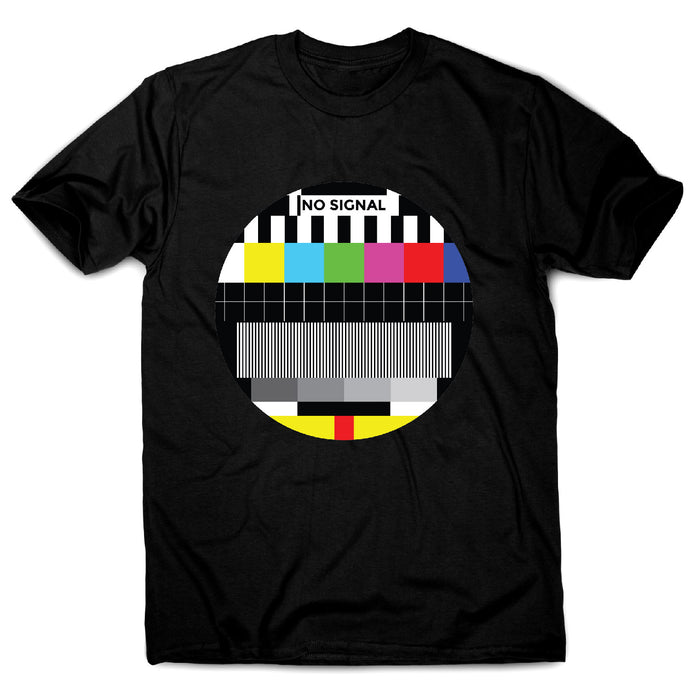 Tv signal - illustration graphic men's t-shirt - Black / S - Graphic Gear
