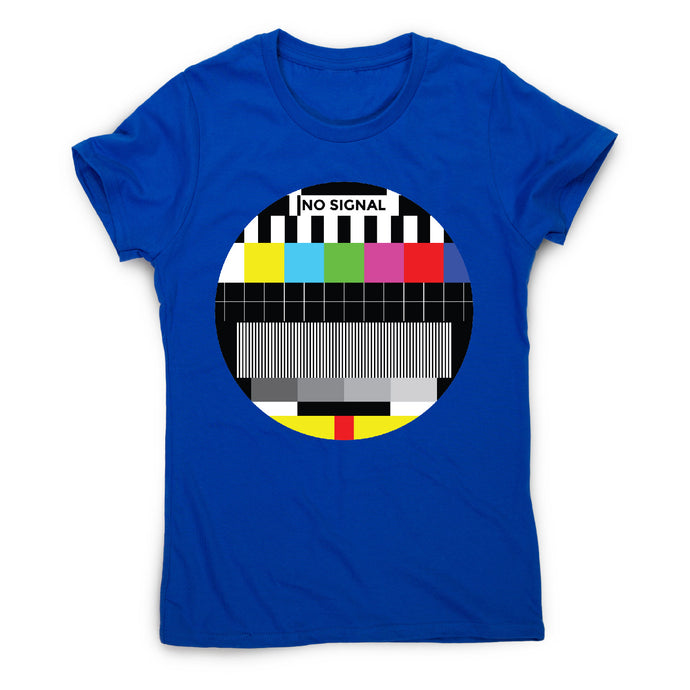 Tv signal - illustration graphic women's t-shirt - Blue / S - Graphic Gear