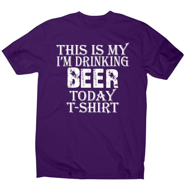 This my i'm drinking funny beer t-shirt men's - Graphic Gear