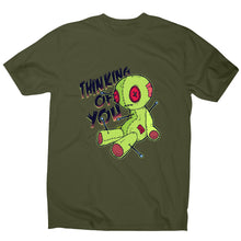 Load image into Gallery viewer, Voodoo doll - funny men's t-shirt - Military Green / S - Graphic Gear