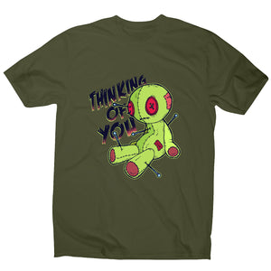 Voodoo doll - funny men's t-shirt - Military Green / S - Graphic Gear