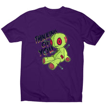 Load image into Gallery viewer, Voodoo doll - funny men's t-shirt - Purple / S - Graphic Gear