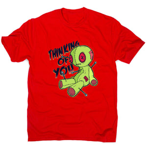 Voodoo doll - funny men's t-shirt - Red / S - Graphic Gear