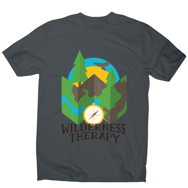 Wilderness camping - men's funny premium t-shirt - Graphic Gear