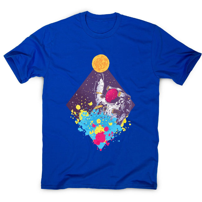 Abstract astronaut - men's funny illustrations t-shirt - Graphic Gear
