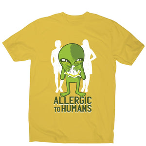 Allergic to humans - funny rude men's t-shirt - Graphic Gear