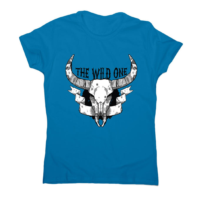 Animal skull - women's funny premium t-shirt - Sapphire / S - Graphic Gear