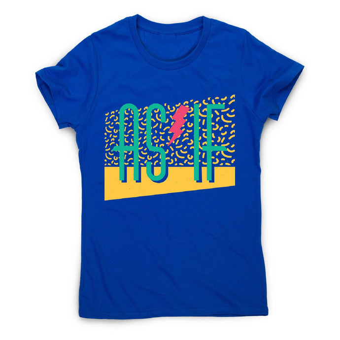 As if retro - women's funny premium t-shirt - Blue / S - Graphic Gear