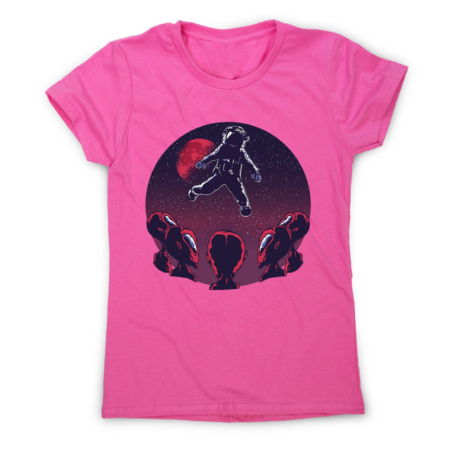 Astronaut alien - women's funny illustrations t-shirt - Graphic Gear