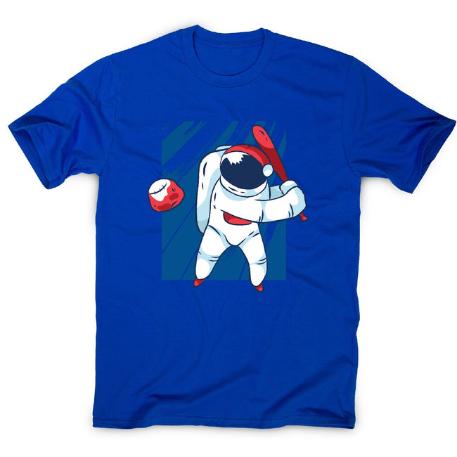 Astronaut baseball - men's funny illustrations t-shirt - Graphic Gear