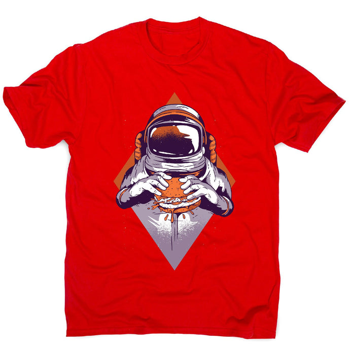 Astronaut burger - men's funny premium t-shirt - Graphic Gear
