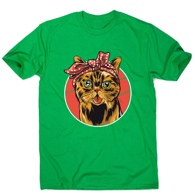 Bandana cat - men's funny premium t-shirt - Graphic Gear