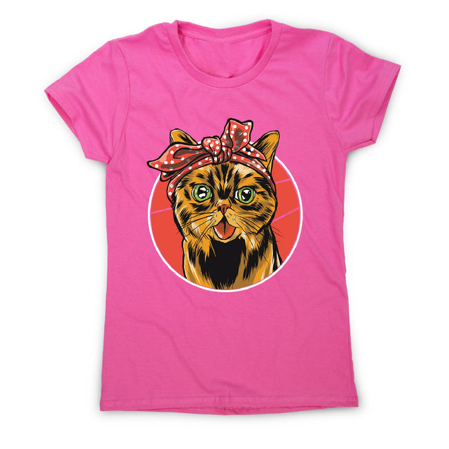 Bandana cat - women's funny premium t-shirt - Graphic Gear