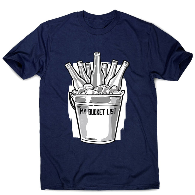 Beer bucket list - men's funny premium t-shirt - Graphic Gear
