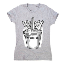Load image into Gallery viewer, Beer bucket list - women's funny premium t-shirt - Graphic Gear