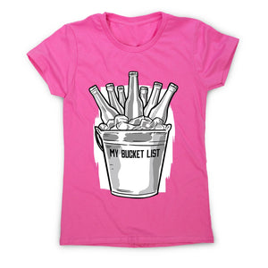 Beer bucket list - women's funny premium t-shirt - Graphic Gear