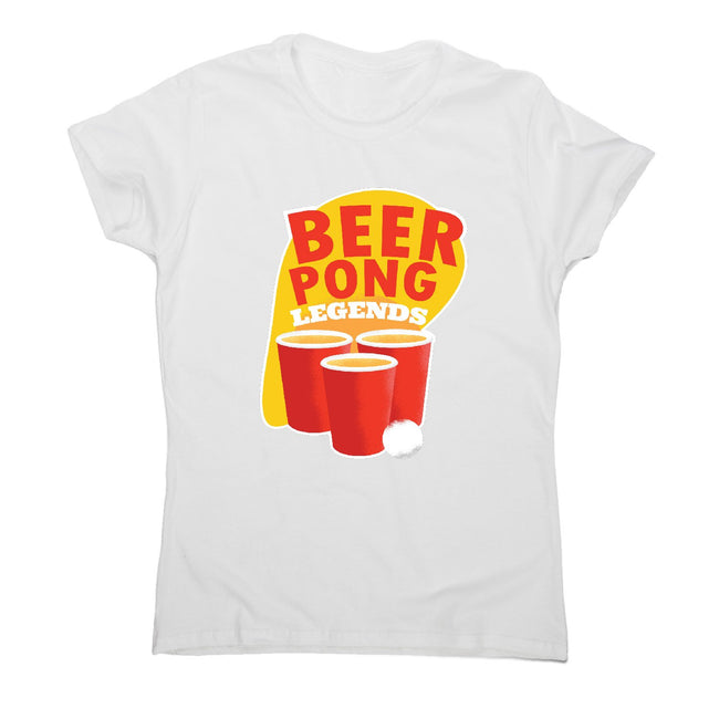 Beer pong - women's funny premium t-shirt - Graphic Gear