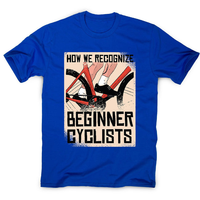 Beginner cyclists - men's funny premium t-shirt - Graphic Gear