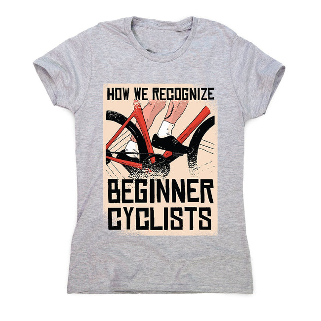 Beginner cyclists - women's funny premium t-shirt - Graphic Gear