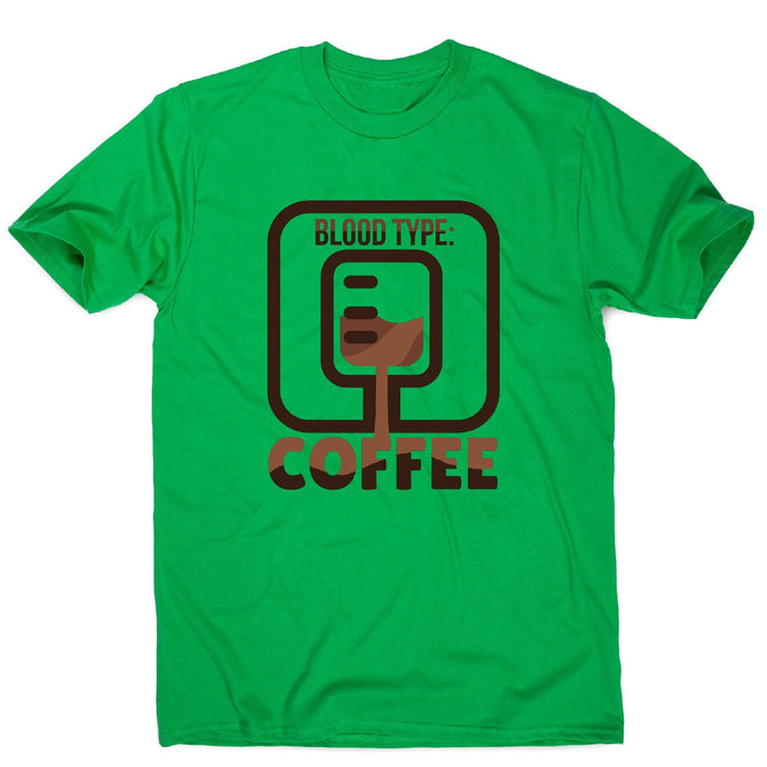 Blood type coffee - men's funny premium t-shirt - Graphic Gear