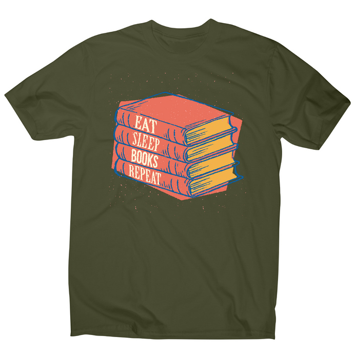 Books repeat awesome reading t-shirt men's - Graphic Gear