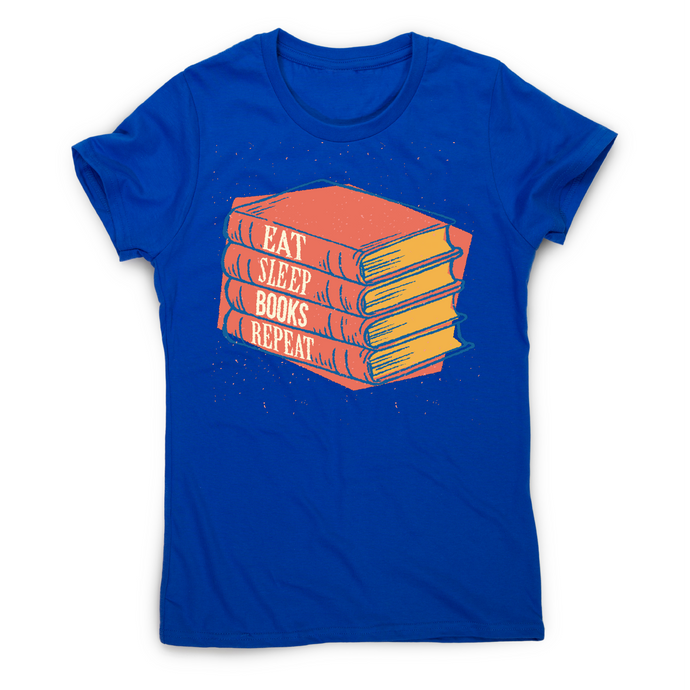 Books repeat awesome reading t-shirt women's - Graphic Gear