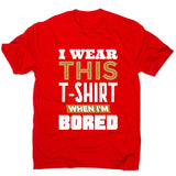 Bored - men's funny premium t-shirt - Graphic Gear