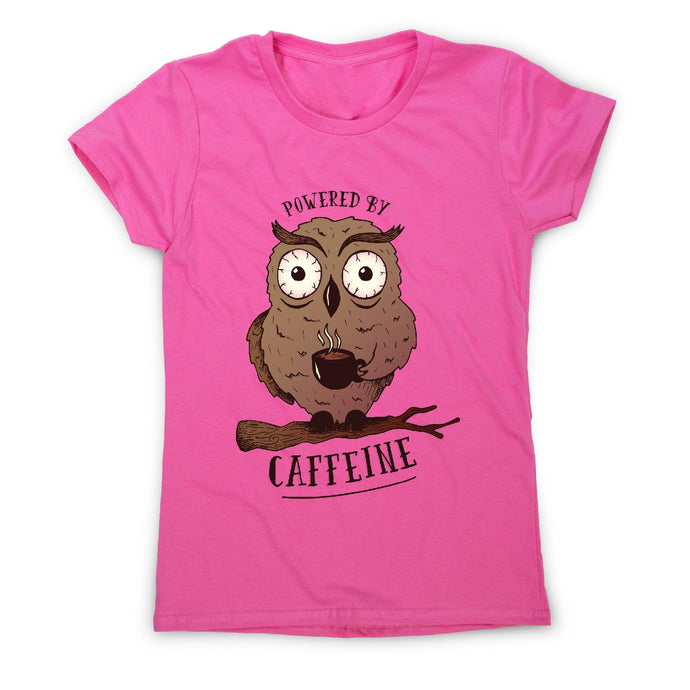 Caffeine owl - coffee women's t-shirt - Graphic Gear