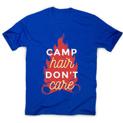 Camp hair don't care - adventure camping men's t-shirt - Graphic Gear