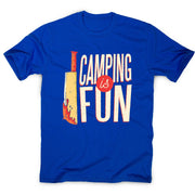 Camping horror - men's funny premium t-shirt - Graphic Gear