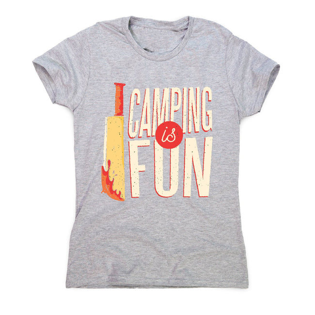 Camping horror - women's funny premium t-shirt - Graphic Gear