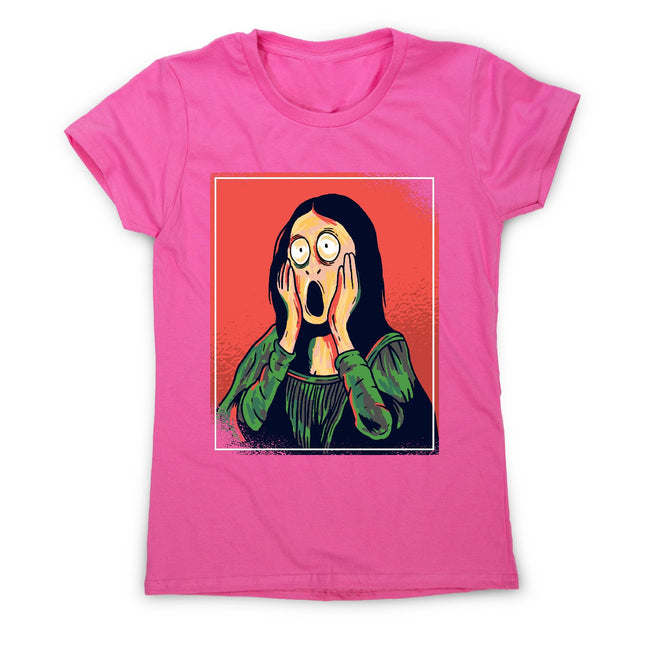 Cartoon mona lisa - women's funny premium t-shirt - Graphic Gear