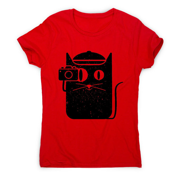 Cat and camera - illustration women's t-shirt - Graphic Gear