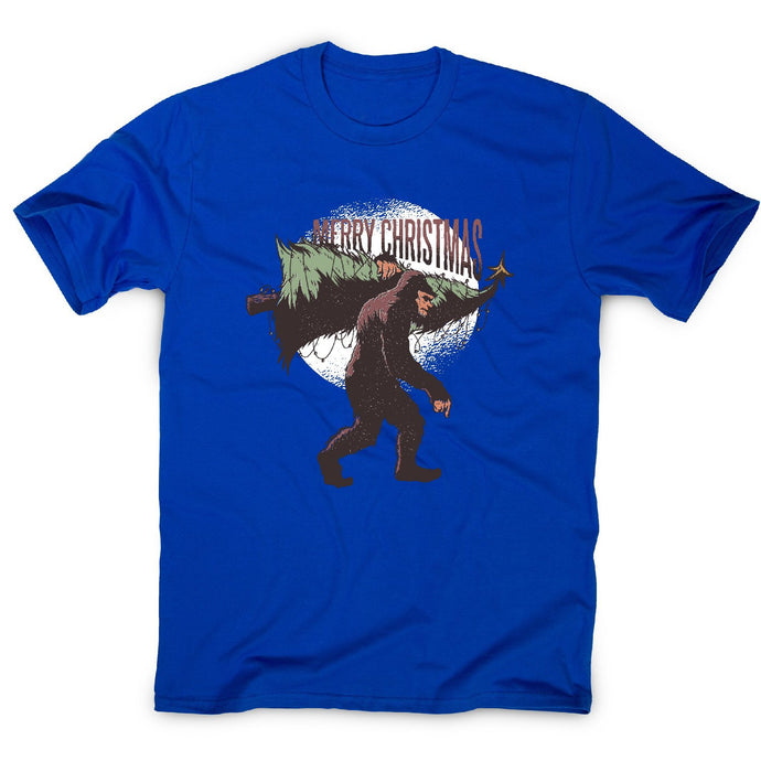 Christmas bigfoot - men's t-shirt - Graphic Gear