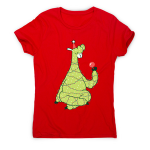 Christmas tree llama funny t-shirt women's - Graphic Gear