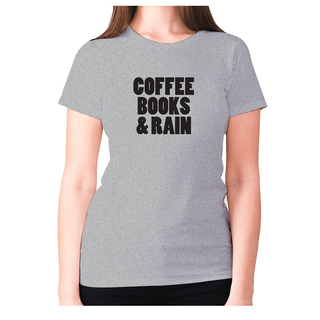 Coffee books and rain - women's premium t-shirt - Graphic Gear