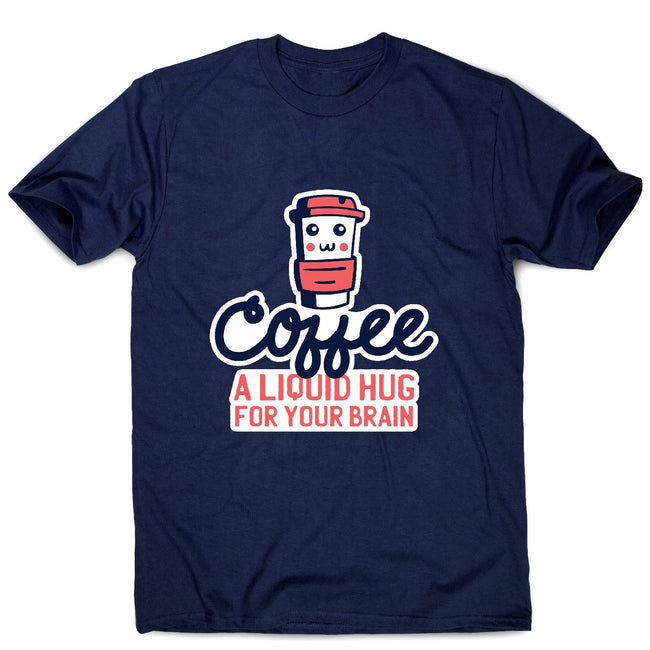 Coffee hug - men's funny premium t-shirt - Graphic Gear