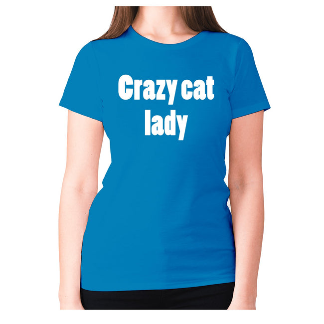 Crazy cat lady - women's premium t-shirt - Graphic Gear