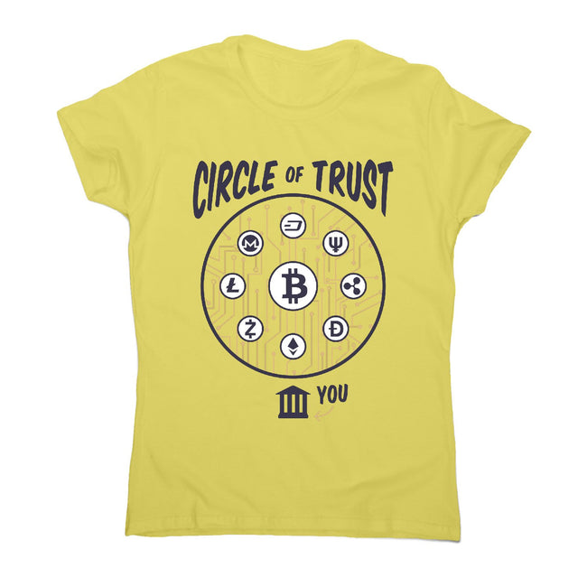 Cryptocurrency lettering - women's funny premium t-shirt - Graphic Gear