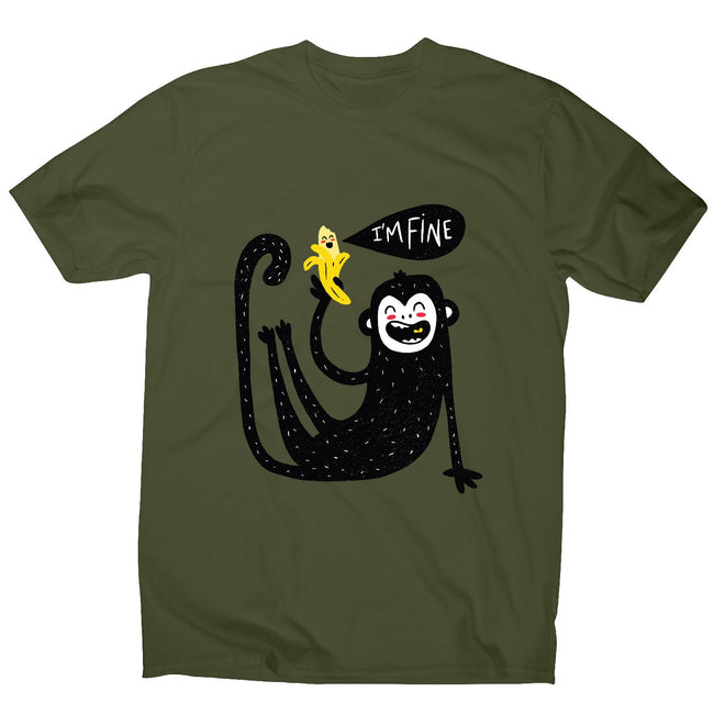 Cute monkey - men's funny illustrations t-shirt - Graphic Gear