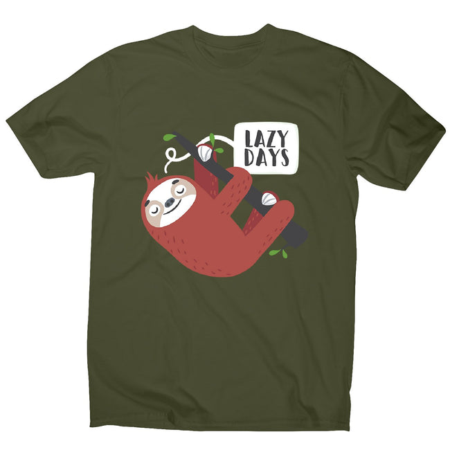 Cute sloth - men's funny premium t-shirt - Graphic Gear