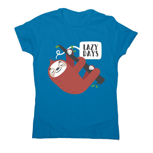 Cute sloth - women's funny premium t-shirt - Graphic Gear