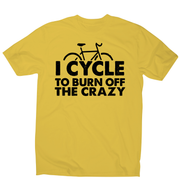 Cycle to burn off funny cycling biking t-shirt men's - Graphic Gear