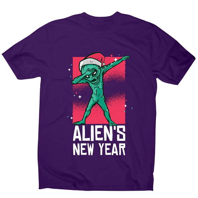 Dabbing alien new year Christmas funny t-shirt men's - Graphic Gear