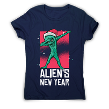 Load image into Gallery viewer, Dabbing alien new year Christmas funny t-shirt women's - Graphic Gear